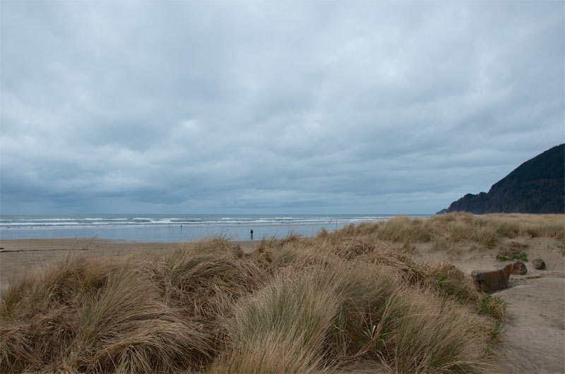 View of Manzanita beach, Oregon