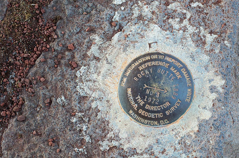 Surveyor's Marker atop Rocky Butter in Portland, Oregon